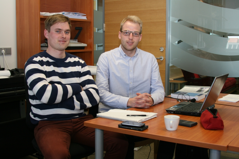 Kári Logason and Alexander Andersson are students for the Master's degree at Chalmer's University of Technology in Gothenburg.