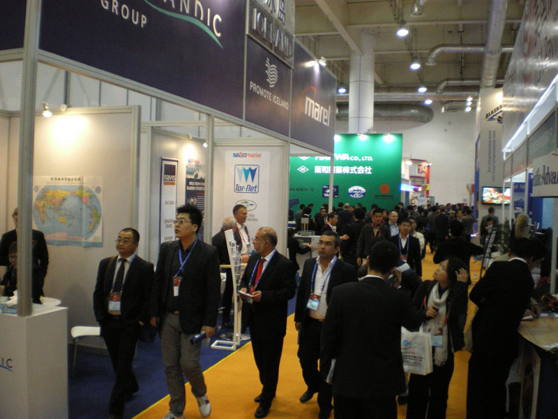 The Icelandic booth at China Fisheries and Seafood Expo in Dalian in CHina